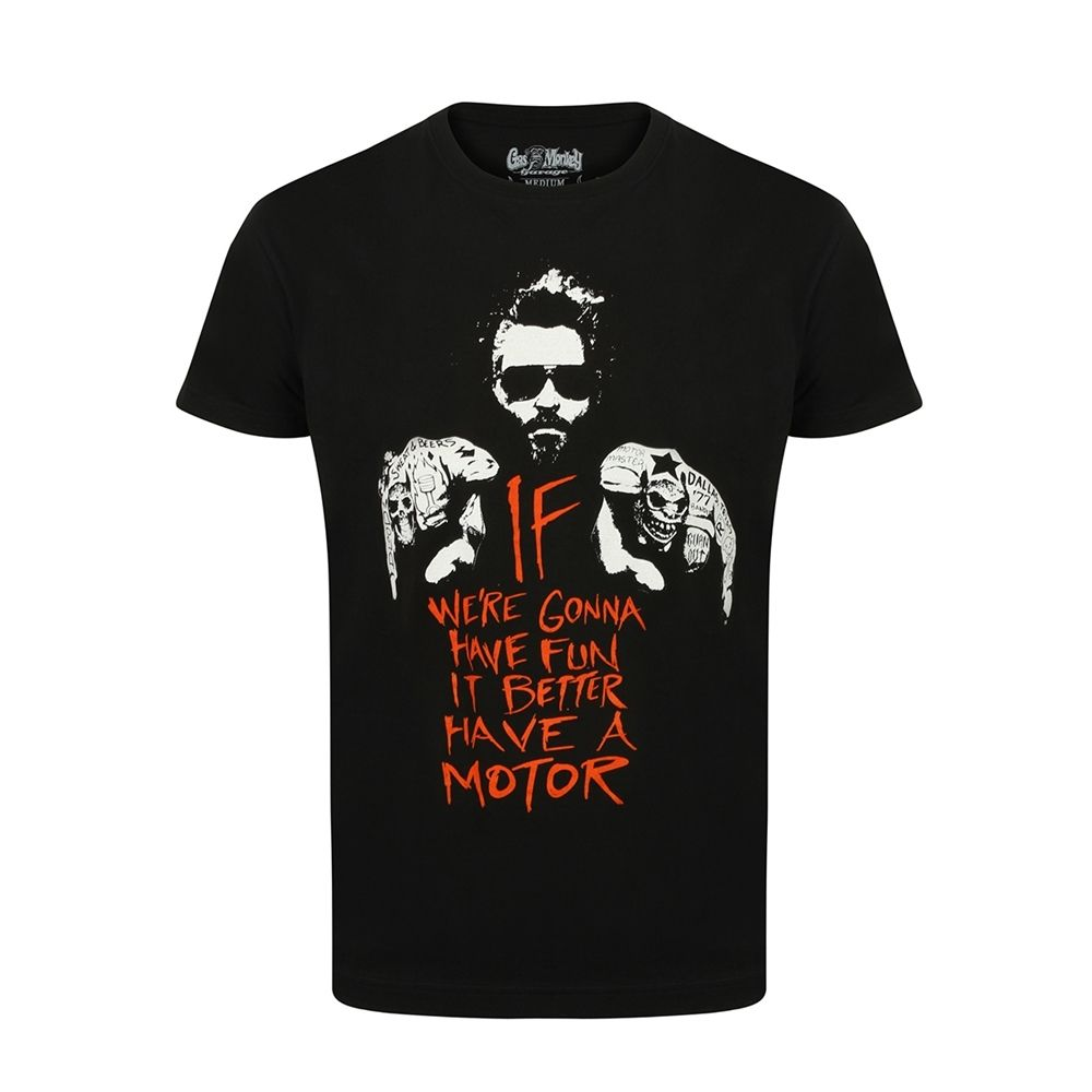 Gas Monkey Garage 'Better Have a Motor' T Shirt  X Large